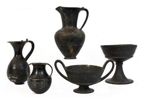 vasi di bucchero la collezione etrusco italica museo sezioni la