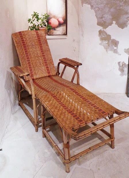 chaise longue rotin chaise longue en rotin ancienne fauteuil rotin transat