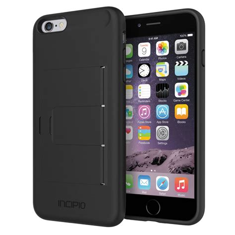 iphone b h incipio stowaway for iphone 6 plus 6s plus iph 1201 blk b h