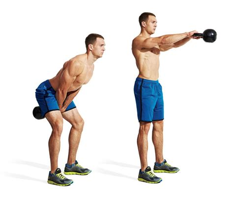 kettlebell front swing the 30 best legs exercises of all time