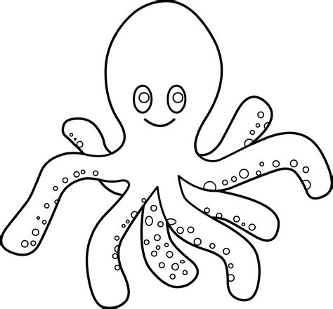 octopus coloring page free clip art