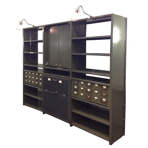 vintage industrial 1940 s machine shop back bar bookshelf