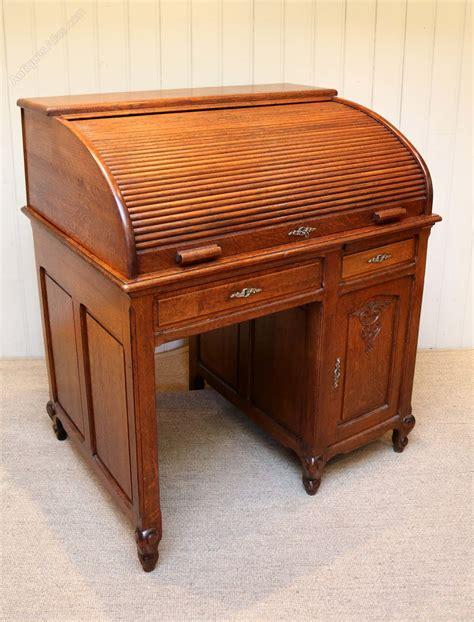 antique oak roll top desk solid oak roll top desk antiques atlas