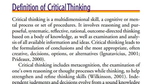 exle of critical thinking importance of critical thinking in nursing linkedin