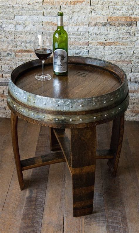 25 best ideas about wine barrel table on