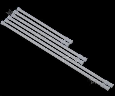 extendable curtain pole no screws 2pcs spring loaded extendable telescopic net voile tension