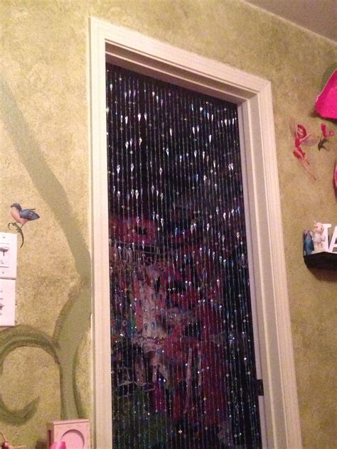 bead curtain  closet door   girls room