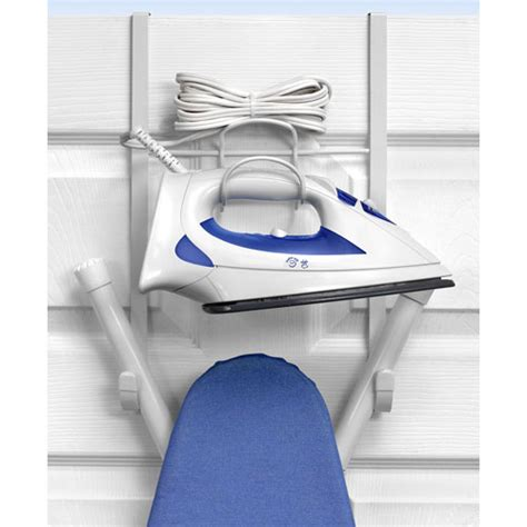 the door iron and ironing board holder in iron and