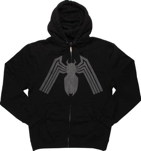 Hoodie Ziipper Venom Cloth venom distressed logo zip hoodie