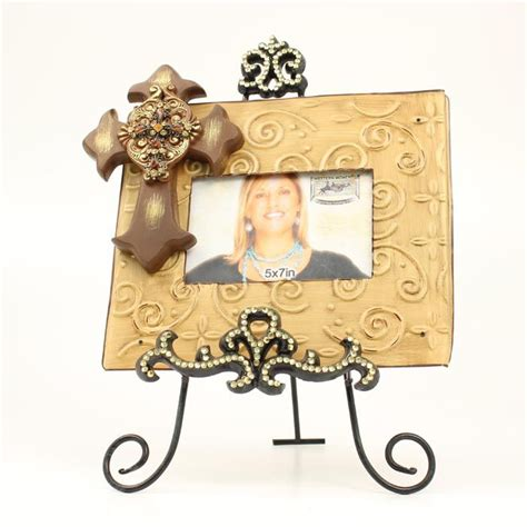 western moments home decor western moments cross frame with easel horseloverz
