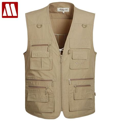 New Vests by New Summer Zipper Travels Vests Breathable Mesh Vest L 5xl