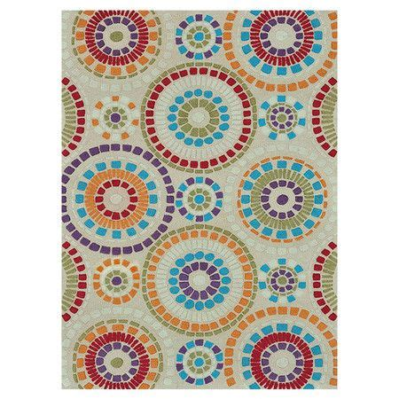joss and rugs 300 handcrafted rug with a vibrant circle joss and
