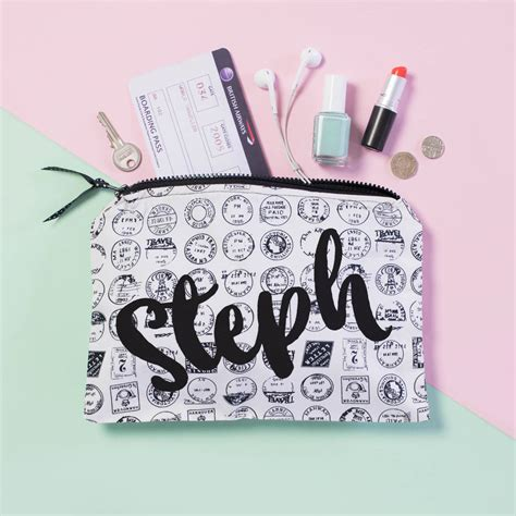 Cd Travelling Pouch 62 personalised travel st accessory pouch by squiffy print notonthehighstreet