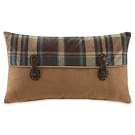 bed bath and beyond hadley buy woolrich 174 hadley plaid pieced rectangle throw pillow