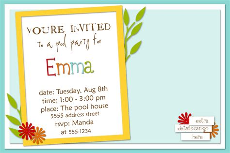 birthday planning and an invitation template