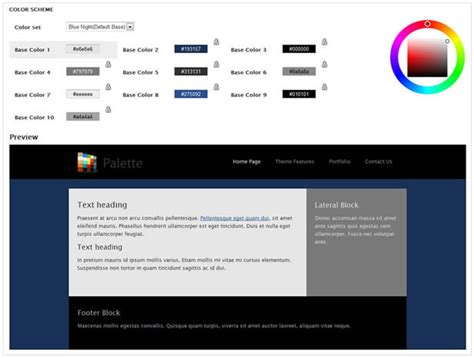 drupal theme language switcher palette 4 in 1 drupal theme color switcher by