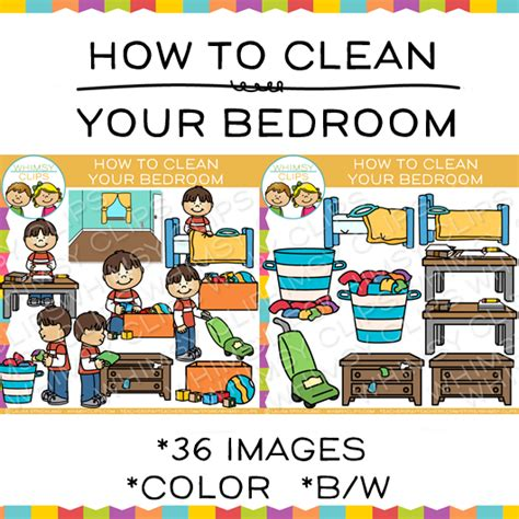 how to clean your bedroom clip art images illustrations whimsy clips