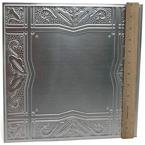 12 quot galvanized metal embossed tin leaves and berries tile