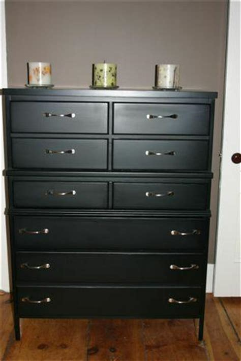 Painting A Dresser Black by Nana S Dresser Goes Heavy Metal Dover Nh Condo Transf