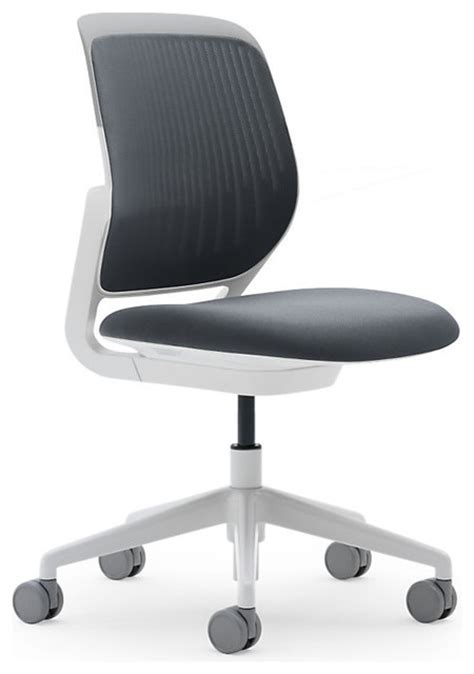 Steelcase Cobi Stool by Steelcase Cobi Chair White Frame Soft Casters Graphite Modern Office Chairs By Design