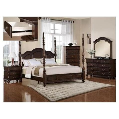 coastal living bedroom furniture 6pcs georgia tall post queen size bedroom furniture set