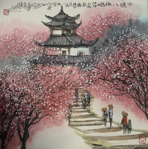 asian painting images painting painting by jun wan