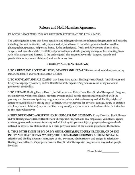 general release agreement template 50 great employee liability waiver and indemnification agreement tu s94687 edujunction