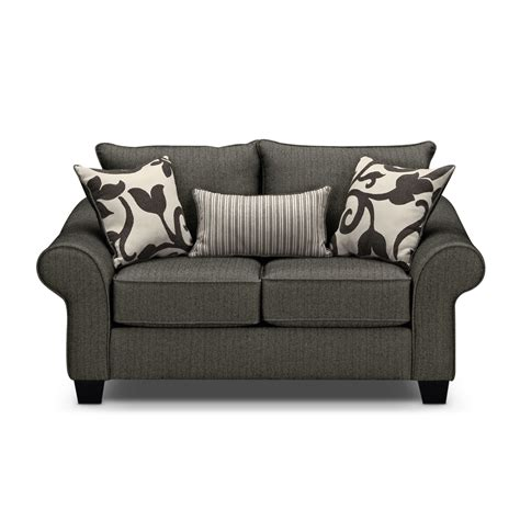 colette loveseat gray value city furniture