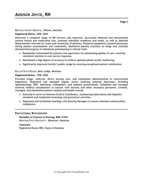 Sample Resumes For Nurses – Registered nursing resume template