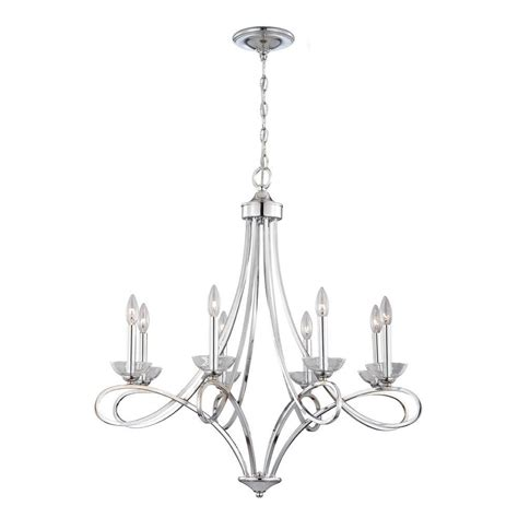 Nickel Chandelier Eurofase Volte Collection 8 Light Polished Nickel Chandelier 23098 015 The Home Depot