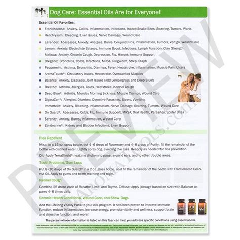 essential oils for dogs essential oils for care guide sheet tear pad doterra essential oils