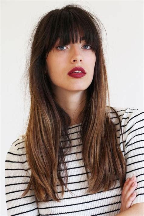 hairstyle ideas with a fringe 20 collection of long hairstyle with fringe