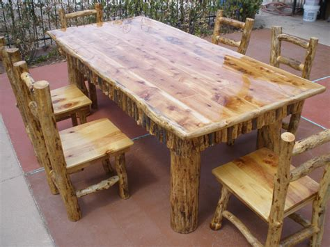 log dining room table log dining room tables cedar log dining table pcdt01