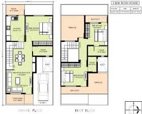 home planning detached row house plans home design and style