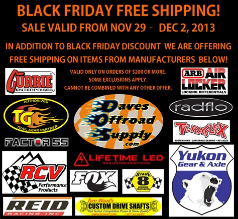 Gardeners Supply Black Friday Daves Offroad Supply 2013 Black Friday Sale