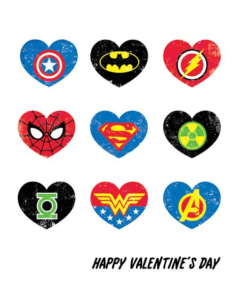 superheroes valentines day s day printable rockin boys club