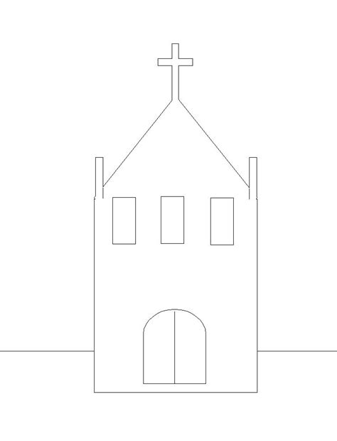 Architectural Origami Templates - best photos of simple church cut out template church cut