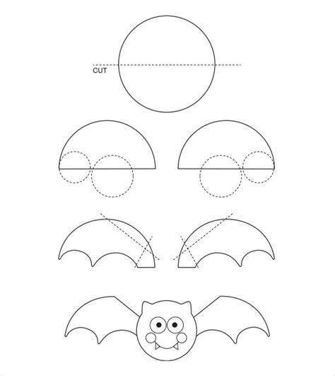 bat cut out template sle bat template 14 documents in word pdf