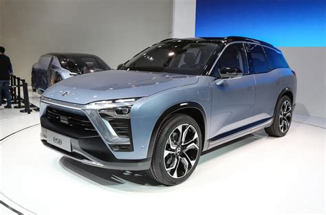 nio es electric suv revealed  shanghai motor show autocar