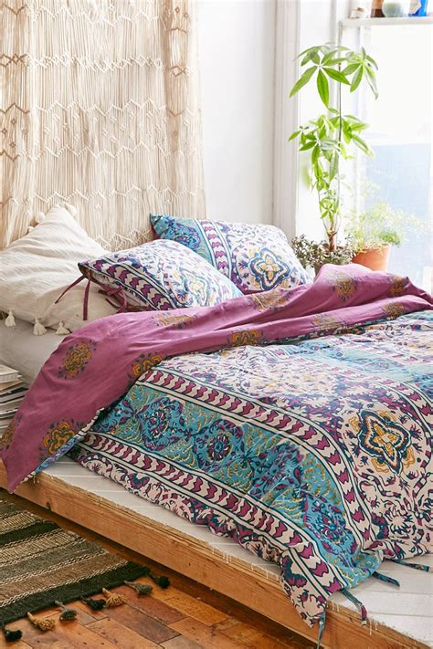 boho bedding magical thinking boho stripe duvet cover urban outfitters