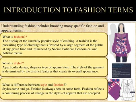 Fashion Design Glossary | fashion terminology images