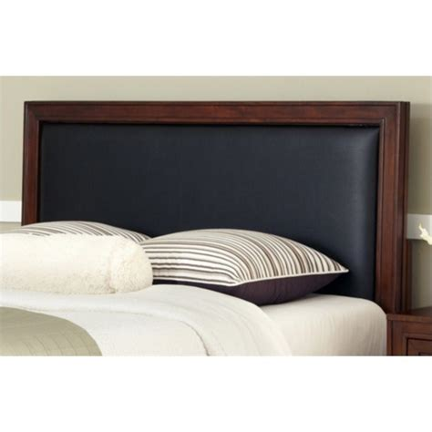 home styles duet queen panel black leather inset headboard