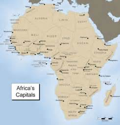 Africa Map Capitals by Map Of Africa And Its Capitals