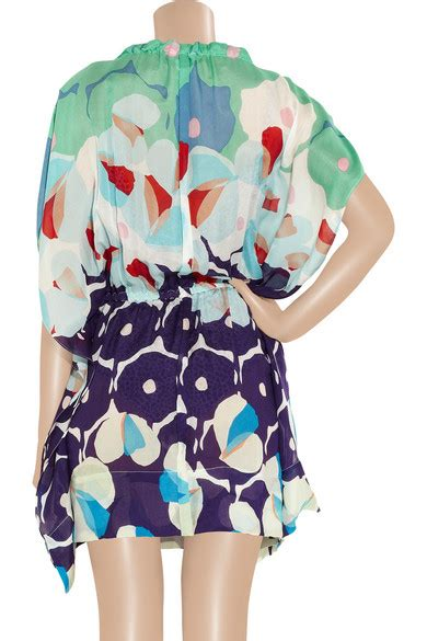 Zaila Dress 1 diane furstenberg zaila printed silk blend voile mini dress net a porter