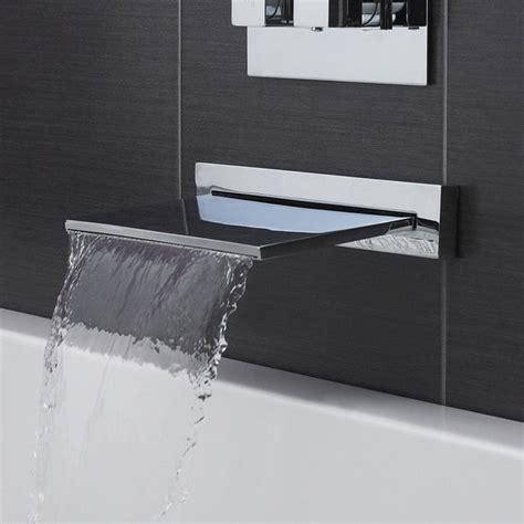 contemporary waterfall tub filler bathroom faucet deck mounted brass bath spout modern
