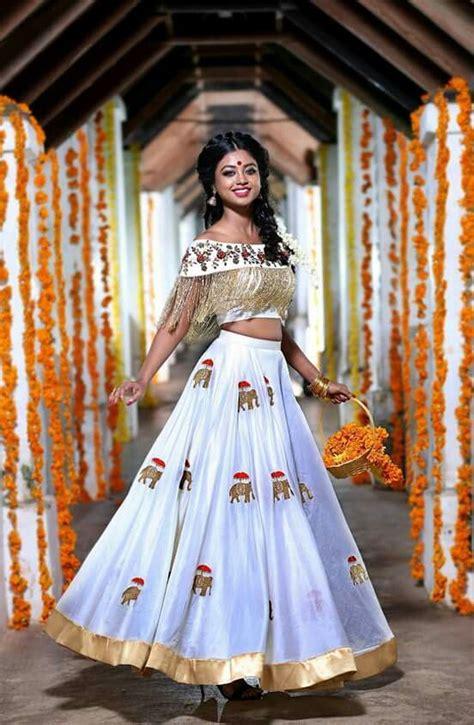 pin  santhi krishna  crop top  full skirt lehenga