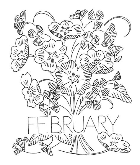 flowers of the month coloring pages vintage flower of the month transfers q is for quilter