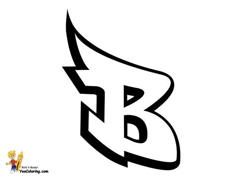 graffiti letter b coloring page graffiti letter b at yescoloring http www