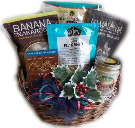 raw food christmas gift basket vegan gluten free 5ive