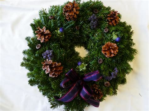 scottish christmas wreath scottish christmas trees
